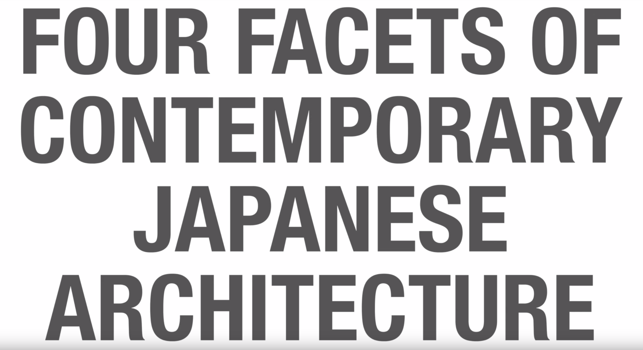 four facets of contemporary architecture screenshot