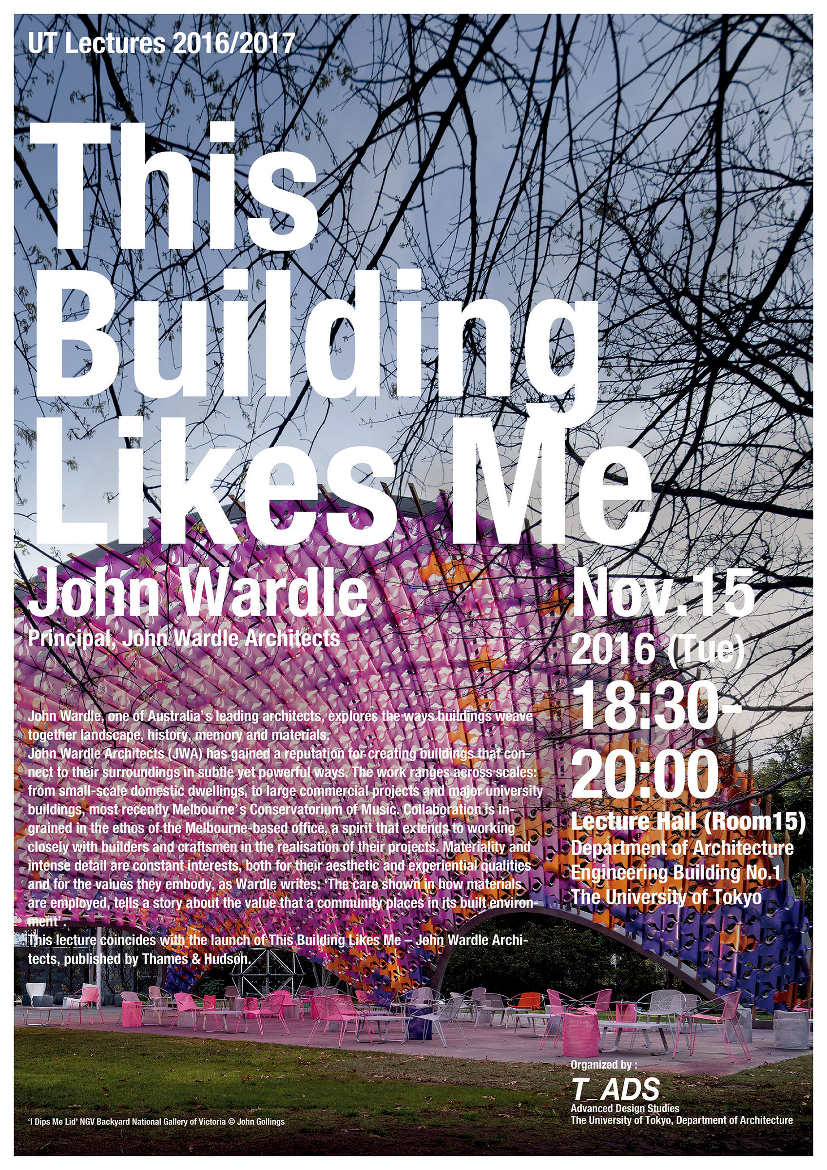 john wardle this building likes me lecture the university of tokyo advanced design studies