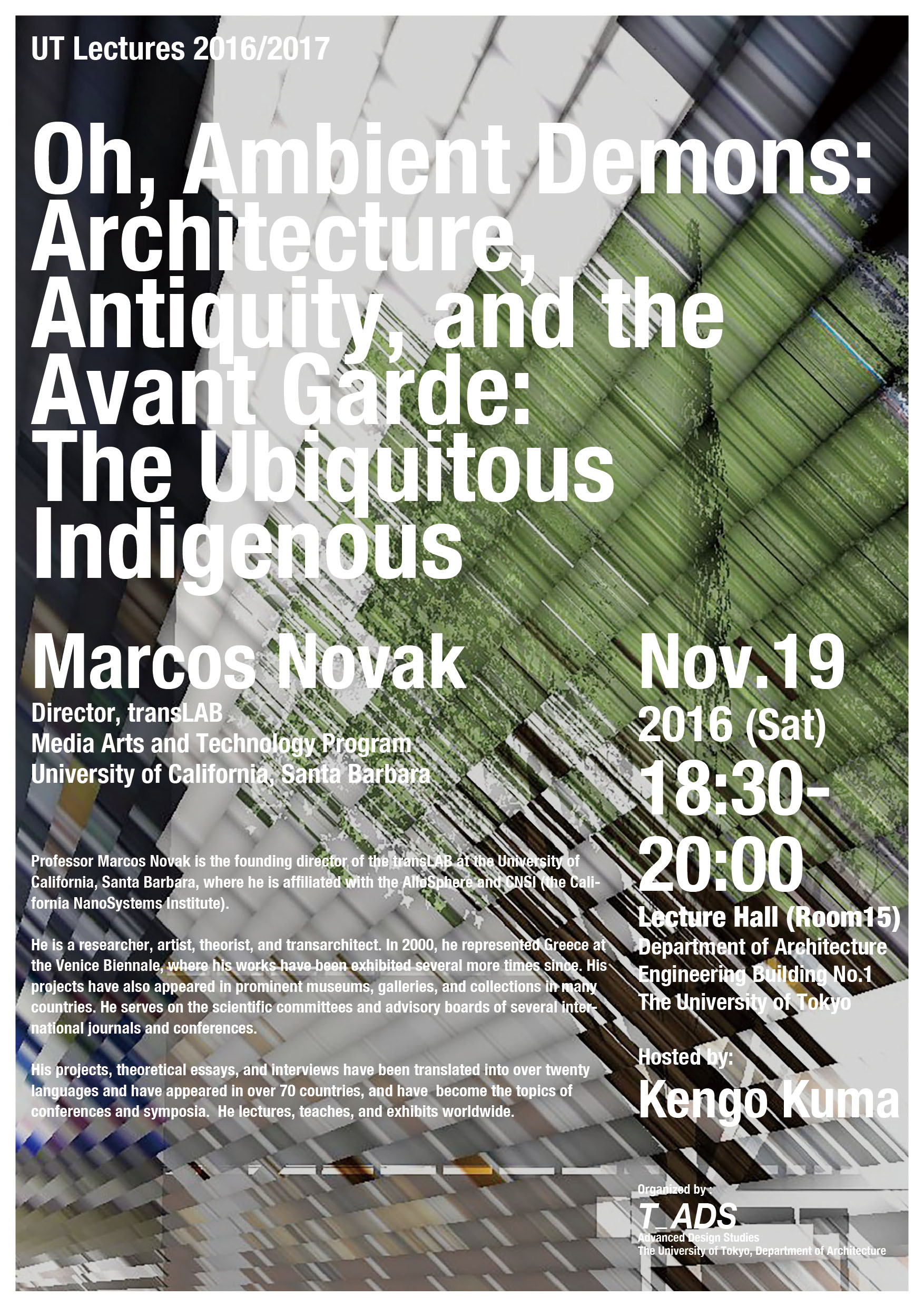 marcos novak oh ambient demons lecture the university of tokyo advanced design studies